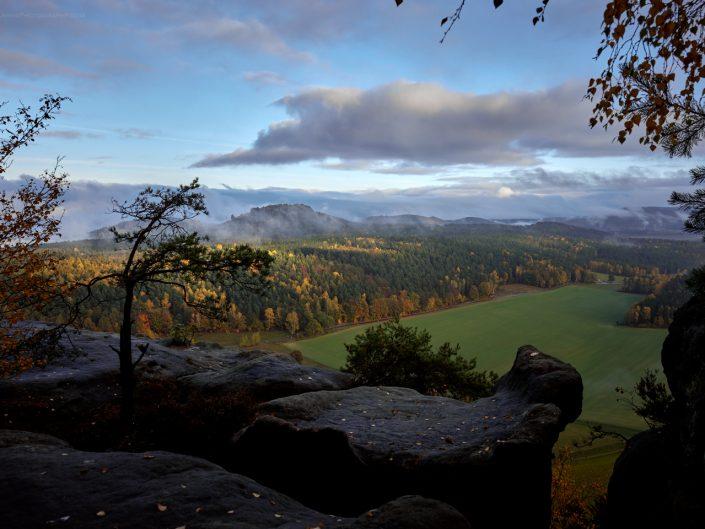 fall in Saxon Switzerland